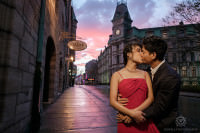 romantic destination quebec city pre-wedding