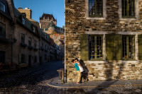 romantic quebec city canada pre-wedding