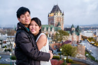 sinagporean couple at quebec city pre-wedding