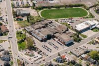 Barrie Central Collegiate Historical aerial photo